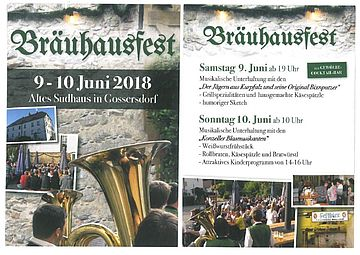 Bräuhausfest Flyer