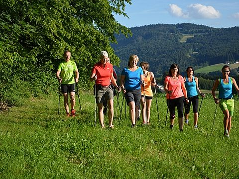 Sommerliches Nordic Walking in Rattenberg